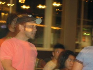 Actor Rob Schneider causing a stir at The Counter.