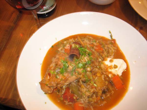 Deceivingly simple looking rabbit stew at Kanella in Philadelphia.