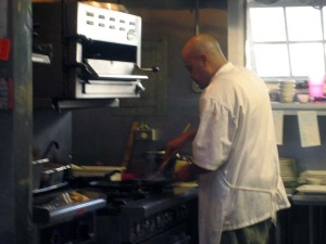 Justin Pardo at work in his Market Fresh Bistro kitchen.