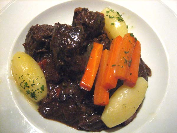 Beouf bourgignon at Chef Mavro