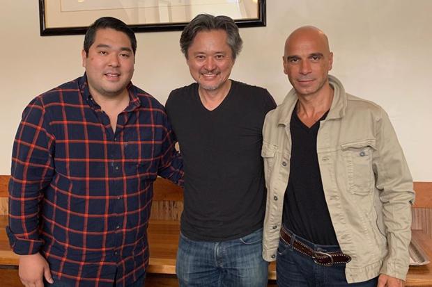Chris Kajioka, Shigeru Kobayashi and Mourad Lahlou at Café Miro, which will retain its name under its new owners.